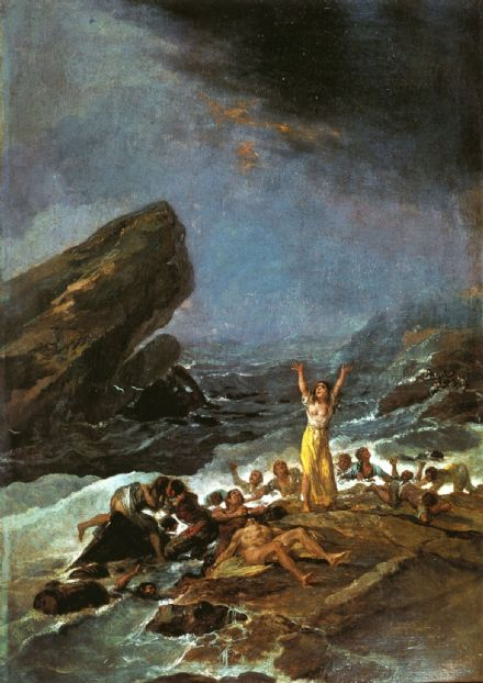 Goya, Francisco de: The Shipwreck. Fine Art Print/Poster. Sizes: A4/A3/A2/A1 (001435)